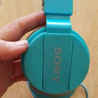 Preloved Headset Biru Brand Sony Suara nya Mantap