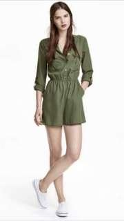 🌻 H&M MILITARY STYLE ROMPER SIZE 10 ON TAG BUT WILL FITS US 6-8