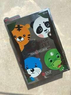 snp animal mask 12 pcs 韓國卡通公仔面膜