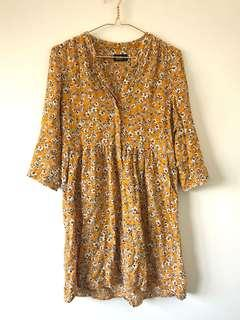 Dotti Mustard Floral Dress