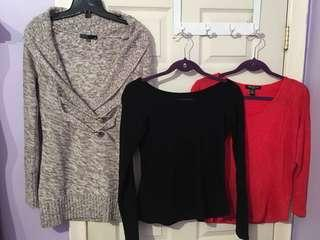 3 Tops/Sweater Size Medium