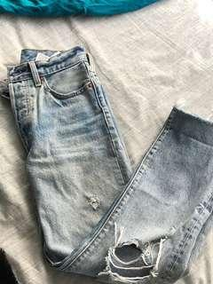 Levi's Torn distressed frayed Wedgies