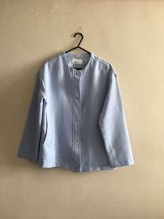 Korea Blue Jacket Coat Cardigan