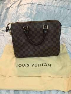Louis Vuitton Speedy 30 Damier Ebene w/ dust bag
