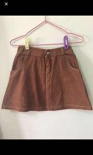 🔖咖啡麂皮短裙(有內裡)