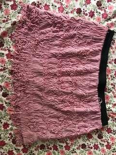 粉紅色 playboy 短褲裙
