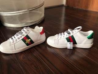GUCCI DUPE SHOES (ace embroidered)