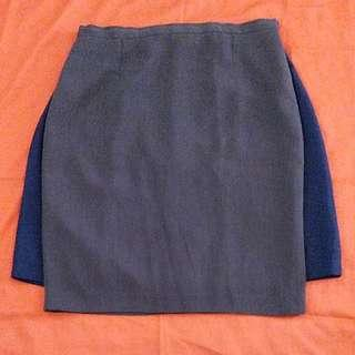 "31"" skirt bundle navy blue & shadow gray(w/lining)"