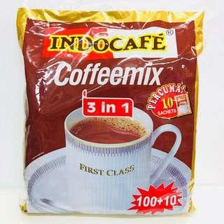 INC POST 🚚 Indocafe Coffeemix 100 Sachets + 10 Sachets Free
