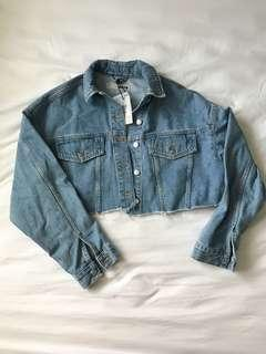 Topshop Cropped MOTO Denim Jacket