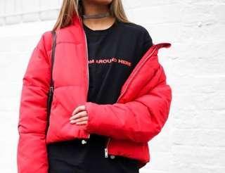 Sportsgirl red puffy jacket