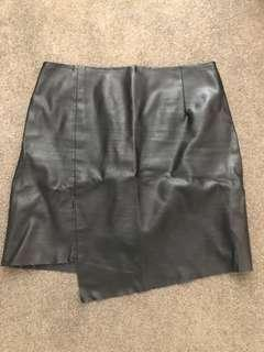 Leather look skirt size XS/8