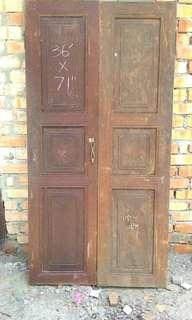Old and antique door and window kayu lama