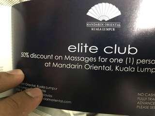 Mandarin Oriental 50% Massage 💆🏼♂️ 💆🏻♀️