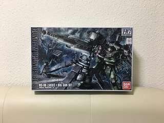 HG Gundam Thunderbolt Zaku II + Big Gun Set