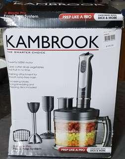 Near new, hardly used (only used as stick blender) kambrook food prep system. Purchased for $149