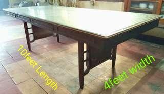 REPRICED - LONG TABLE with Glass