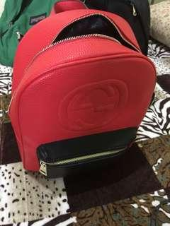 Gucci Red Backpack