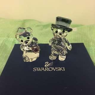 Swarovski Crystal bear couples wedding