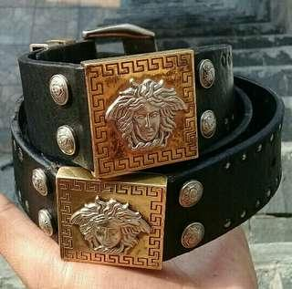 Gianni Versace MEDUSA Leather Belts Italy AUTHENTIC