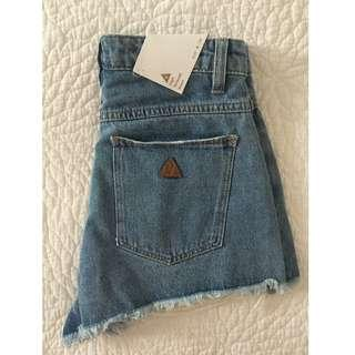 Brand new with tags; A High Relaxed Womens Denim Short
