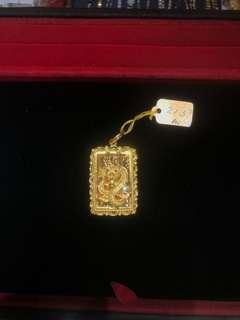 916 dragon Gold Pendant