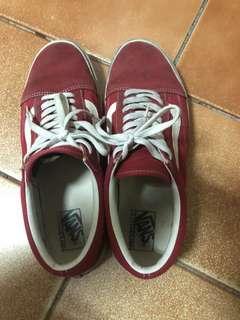 🚚 Vans麂皮紅白