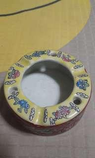 Chinese Porcelain Ash Tray  - 9cm