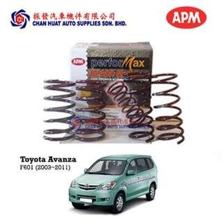 Toyota Avanza F601 APM Performax Sport Coil Springs (Set of 4) Lowered Suspension