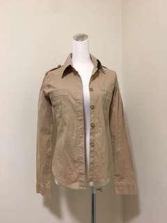 🚚 低價💥版型超美超好看~Tomboy 卡其色襯衫 #古著
