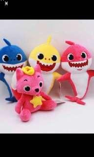 Instock now!! Pinkfong baby shark pushie doll brand new pinkfong size -ht 26cm  shark-ht32cm.. please note doll only no music .. pm me if Wan get whole set