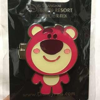 上海迪士尼襟章 勞蘇 (Shanghai Disneyland Toystory Lotso layer - pin trade logo)