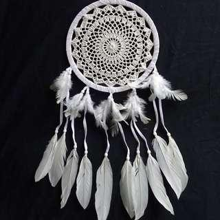 White Crochet Dream Catchers