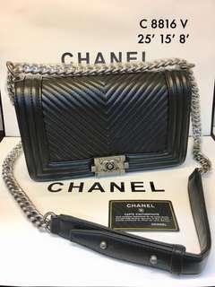 Chanel Leboy Chveron 25cm ☑️ Ready Stock☑️ Premium 1:1