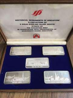J34 - Singapore 1979 Silver Proof Ingot Set in Original Wooden Box