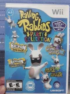 Wii game Raving Rabbids party collection