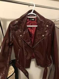 MENDOCINO PATENT LEATHER JACKET