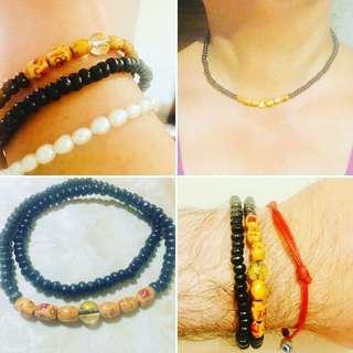 Bracelet 3mm wood prayer beads meditation
