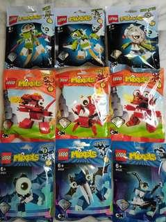 Lego Mixels series 4 set of 9 new sealed Rokit Niksput Nurp-Naut Meltus Flamzer Burnard Globert Vampos Boogly