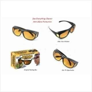 As Seen On Tv HD Vision Anti Glare Wrap  Arounds Sunglasses Glasses Eyewear Day & Night