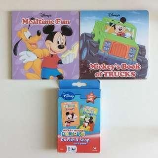 兒童 Disney 迪士尼 Mickey Mouse 米奇老鼠圖書 Book + Learning Card Game 學習遊戲卡