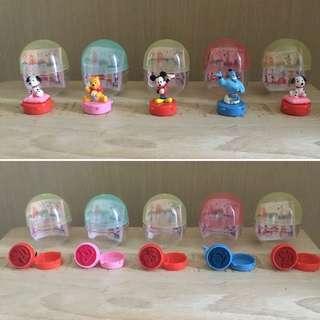 日版 Disney 公仔印台班點狗、Winnie The Pooh、Mickey 米奇、Aladdin 阿拉丁神燈