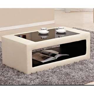 Luxury Glass Open type table sofa