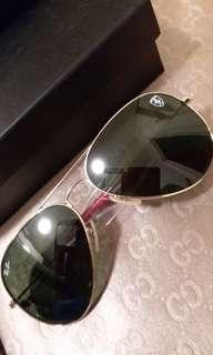 Original ray ban Ferarri edition 3025 gold frame g 15 lens with red temple