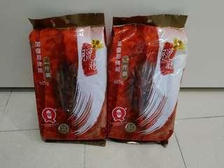 榮華加廋招牌臘腸一斤裝(605g)兩包共