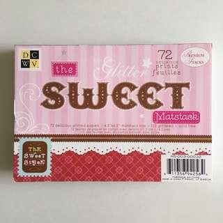 Scrapbook Printed Paper Sweet Delicious Gliterring