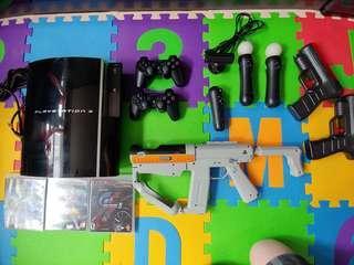 PS3 60GB + Move + Games + Accessories