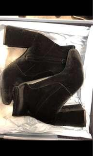Authentic brand new Prada black stretch suede boots Size 7