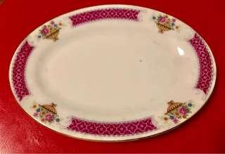 Antique flower Serving Plate