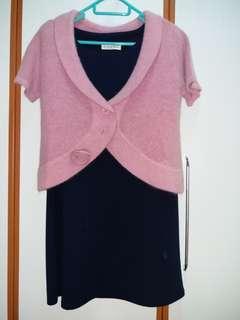 粉紫紅色全新兔毛上衣  外套